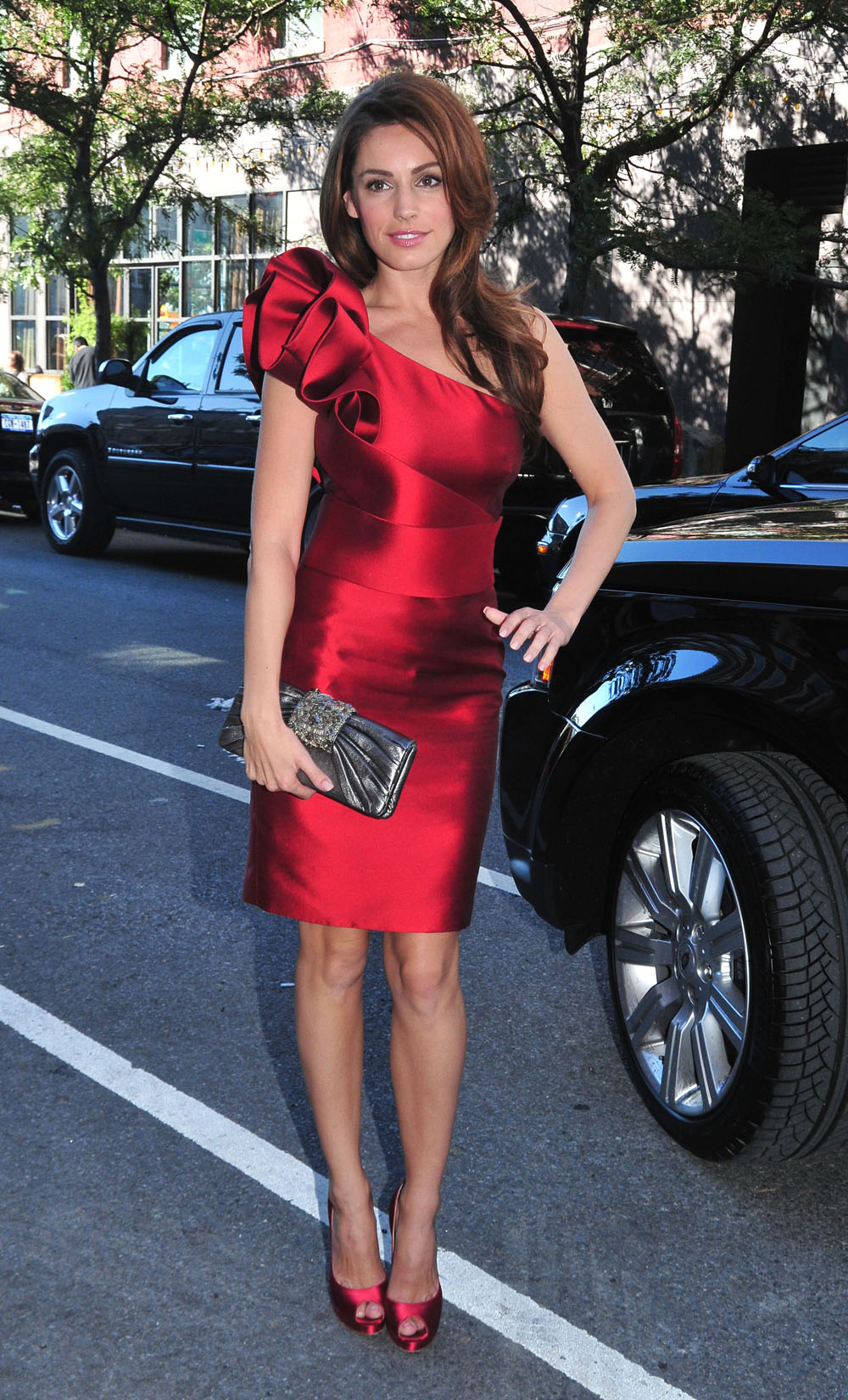 #5738344 Guest arrive at the Marchesa party which took place during the Mercedes-Benz Fashion Week Spring/Summer 2011in New York City, New york on September 15, 2010. Pictured here Kelly Brook<br /> Fame Pictures, Inc - Santa Monica, CA, USA - +1 (310) 395-05