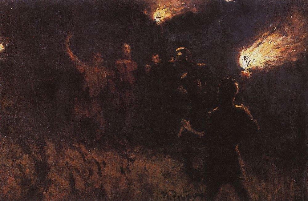 Взятие Христа стражею. 1886.jpg