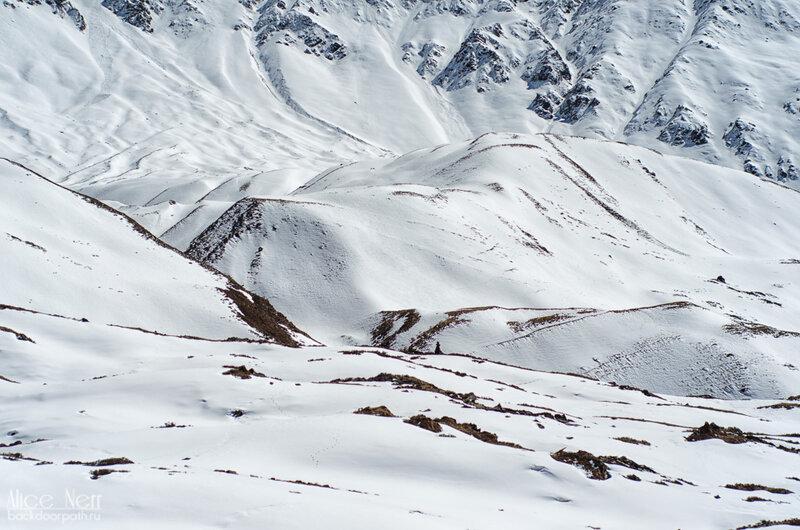 очень много снега, гималаи, непал, трек вокруг аннапурны, виды