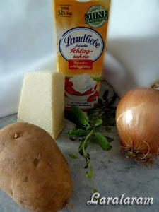 Продукты для картофельного гратена