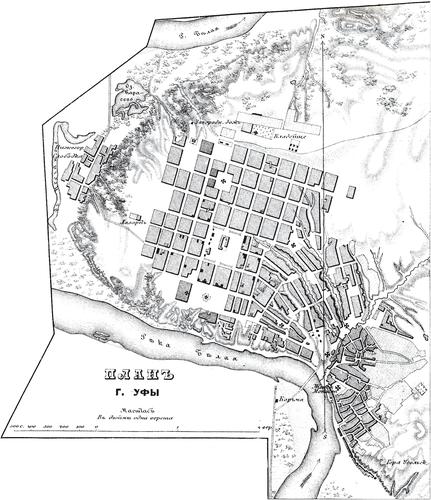 Генплан города Уфы на 1876 год