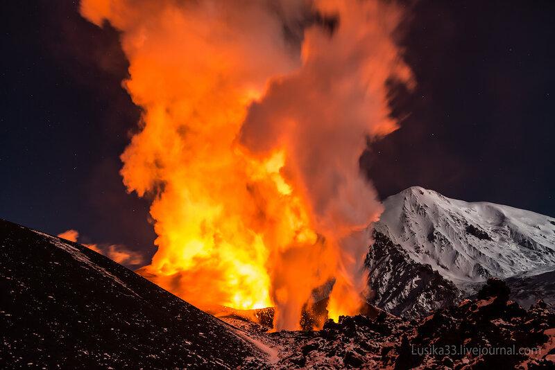 Толбачик. Извержение вулкана
