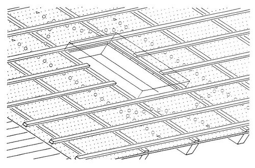 Верхний воздушный канал у проходного элемента; обрешетка и контробрешетка