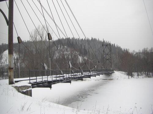 Пешеходный мост через Сим