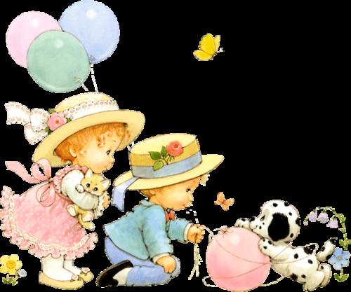 детки с шариками