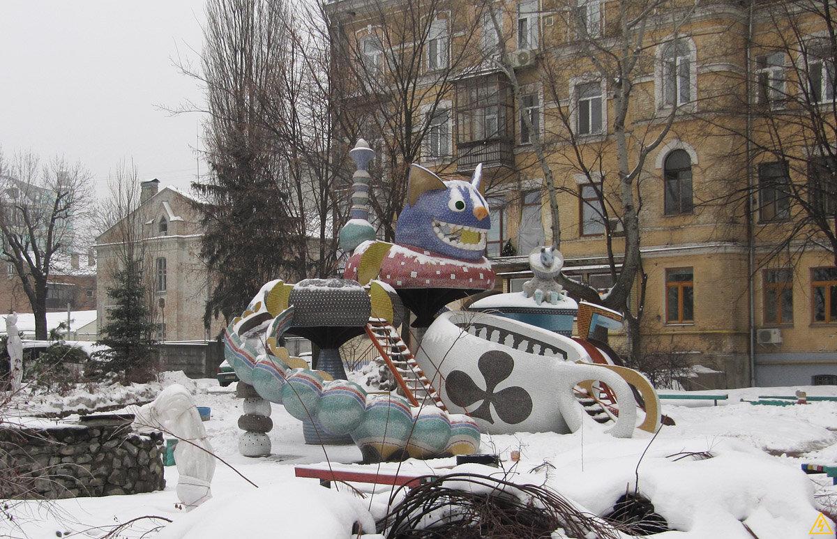 Пейзхажная аллея в Киеве (Январь 2013)