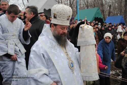 Праздник Крещение Господне в Луганске на озере восьмерка