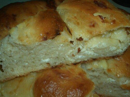 Пирог с брынзой без дрожжей