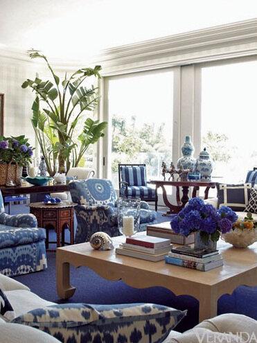 Китайский бело-голубой фарфор в интерьере