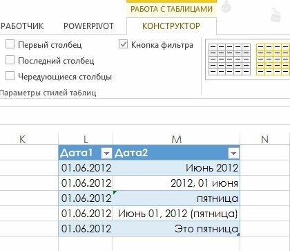 Рис. 158.1. Когда таблица выбрана. Excel отображает контекстную вкладку Работа с таблицами