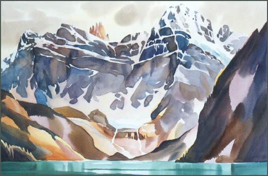 Торосы, льды и айсберги... могучий океан...Канадский художник David McEown