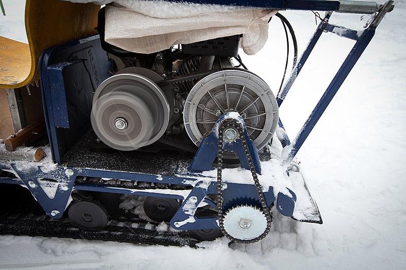 Снегоход своими руками с вариатором