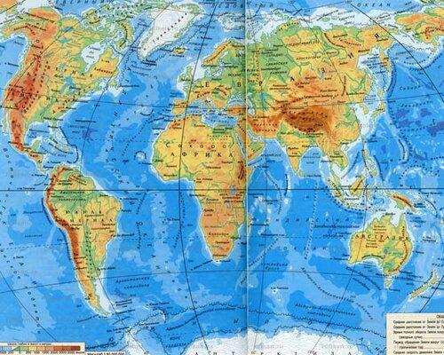 этой картой глобус