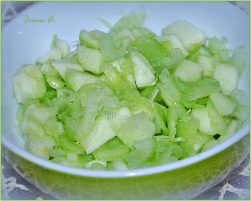 Яблочно-сельдереевый десерт