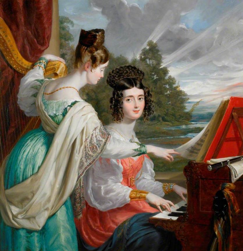 The Honourable Charlotte Stuart (1817–1861) and the Honourable Louisa Stuart (1818–1891), Daughters of Sir Charles Stuart, Baron Stuart de Rothesay (1779–1845), Diplomat
