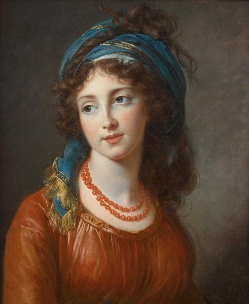 Портрет Аглаи де Грамонд,герцогини Guiche (1768-1803)