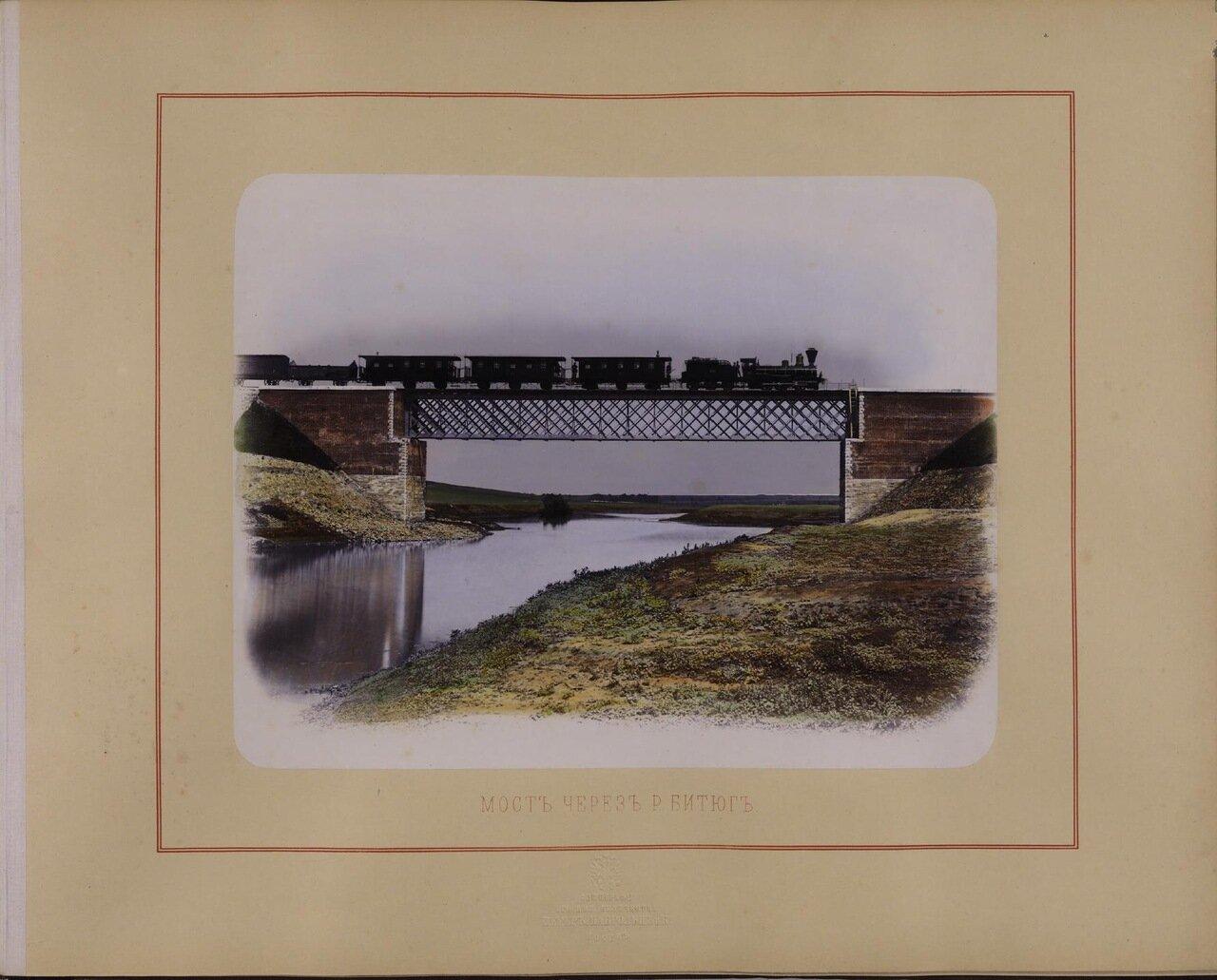 Мост через реку Битюг. Ателье «Шерер и Набгольц». - 1869 г.