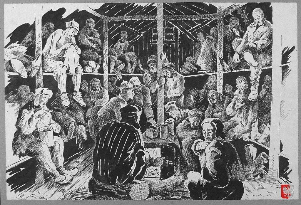 Условия внутри барака в северных лагерях советского подневольного труда