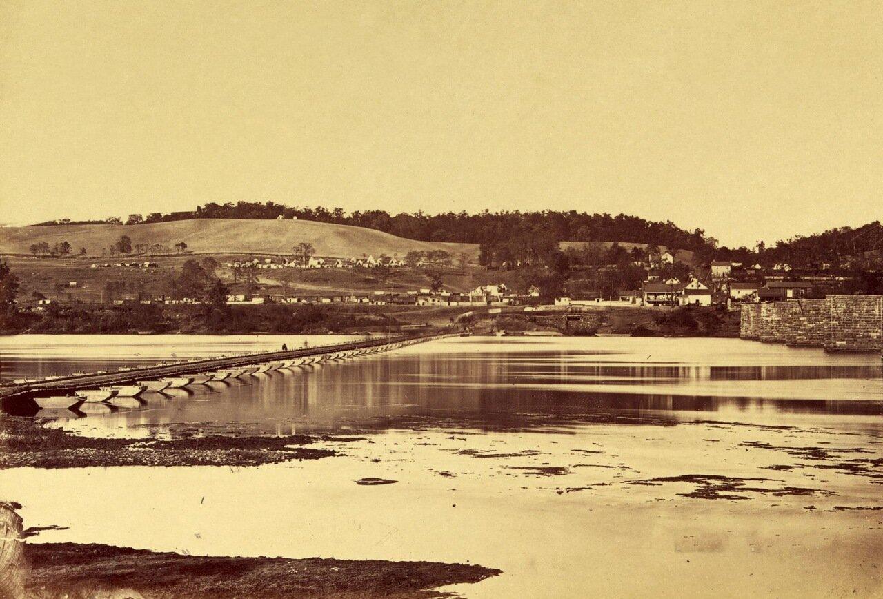 Понтонный мост через Патомак возле Берлина в Мэриленде. Ноябрь 1862 г.