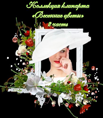 Коллекция клипарта «Весенние цветы» — 2 часть