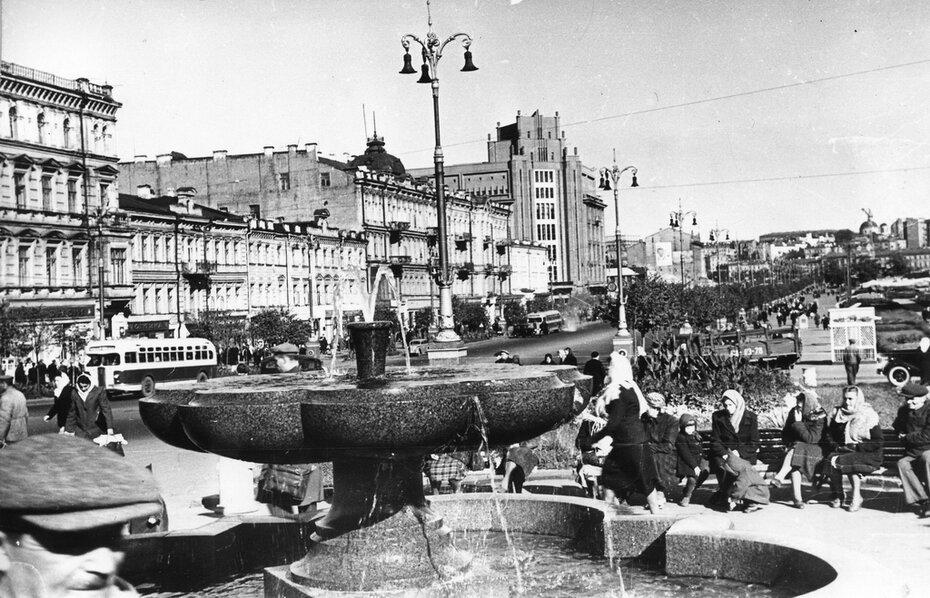 1949. Панорама Хрещатика.