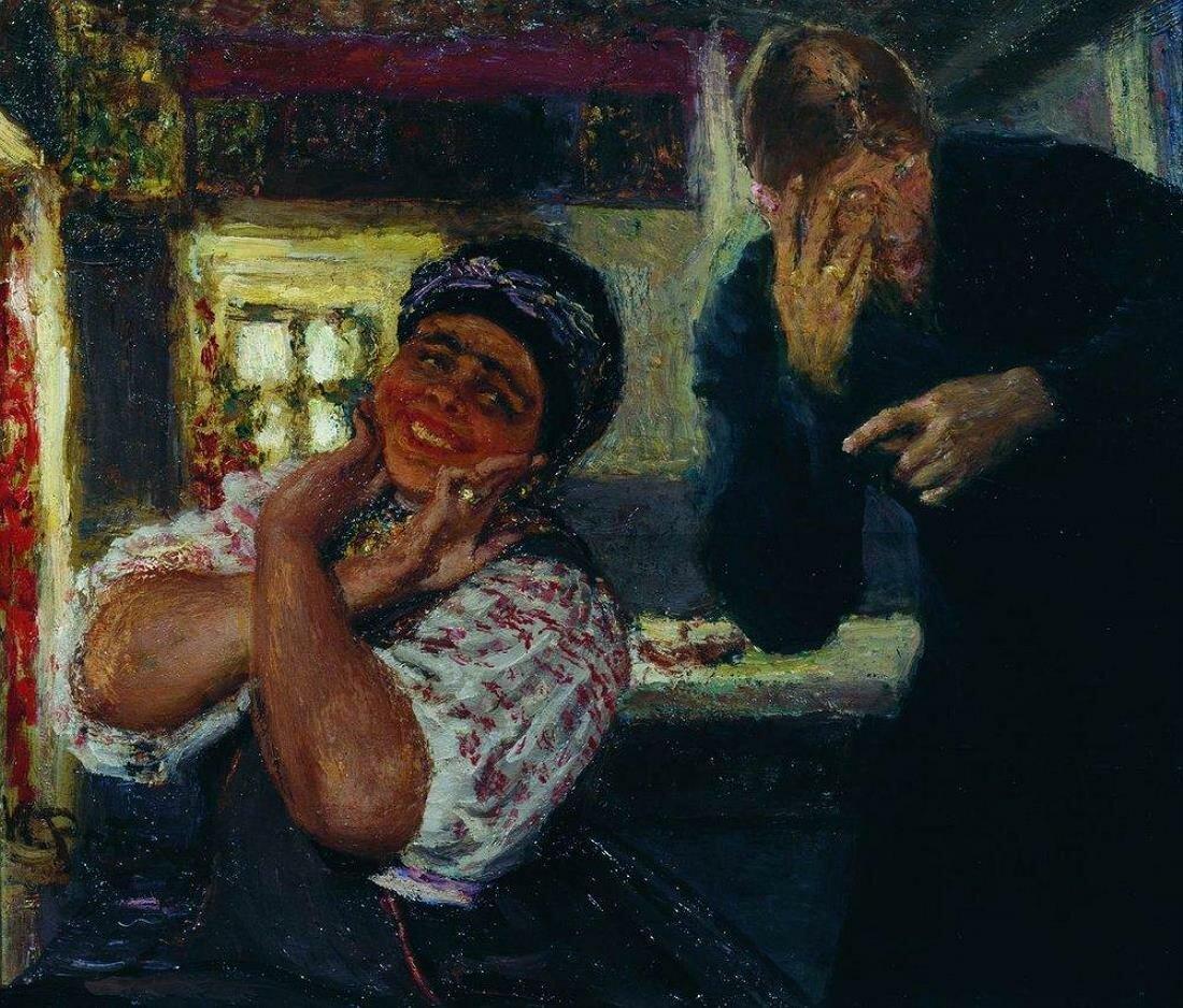 Солоха и дьяк. 1926, Репин Илья Ефимович(1844-1930)