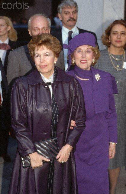Raisa Gorbachev and Estee Lauder