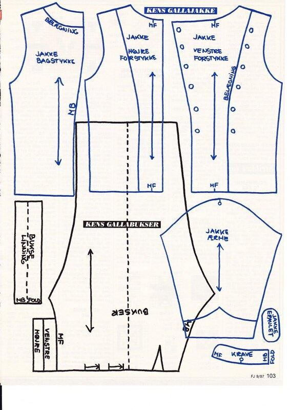 Выкройка одежды на барби
