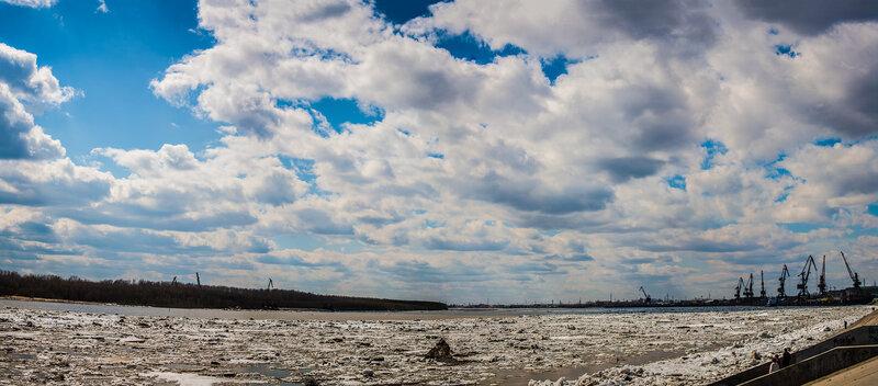 Панорама ледоход нижневартовск 2013