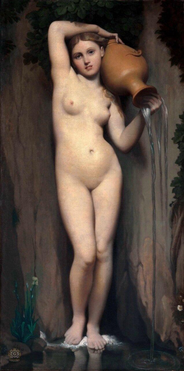 Жан Огюст Доминик Энгр: Источник  Музей Орсе, Париж 1856, 163x80