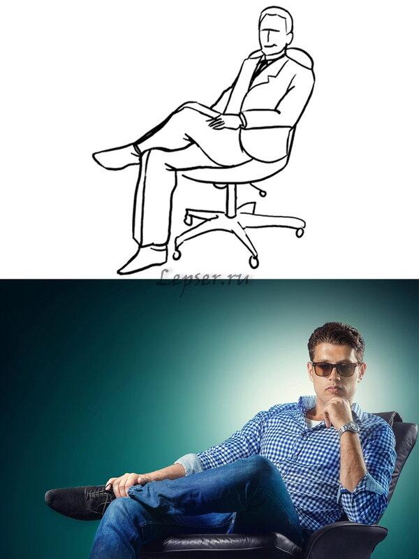 актера как правильно сфотографировать сидящего человека огромное значение, нужны