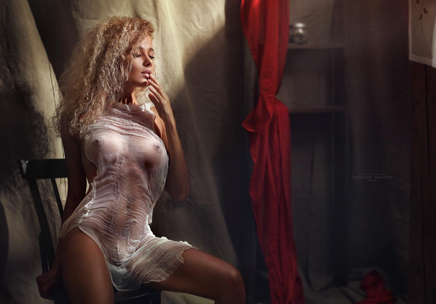 Кучерявая блондинка / Фотограф Дмитрий Борисов