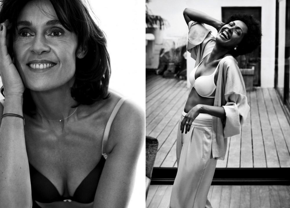 Врекламе белья вместо моделей сняли обычных женщин (19 фото)