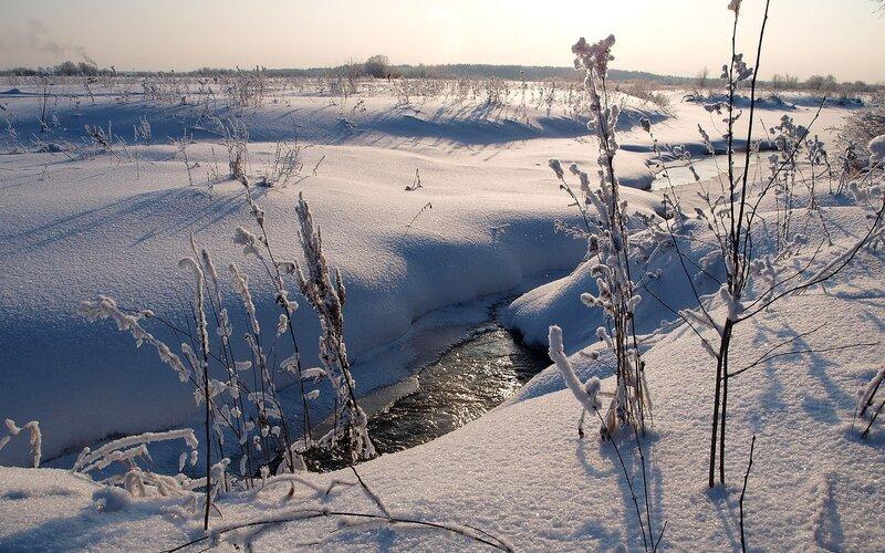 Зима не властна над текучей водой