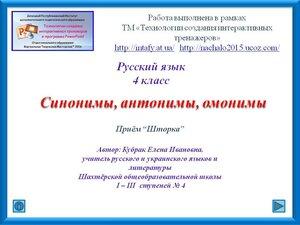 Шторка. Синонимы, антонимы и омонимы. Р. яз. 4 класс. Кубрак Е. И. (1).jpg
