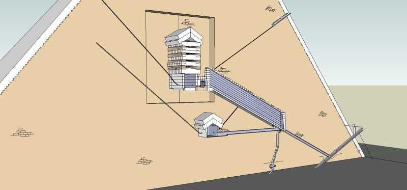 Рис.10.1 Схема пирамиды Хеопса