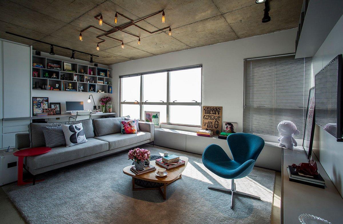 Не скучная квартира молодой пары в Бразилии