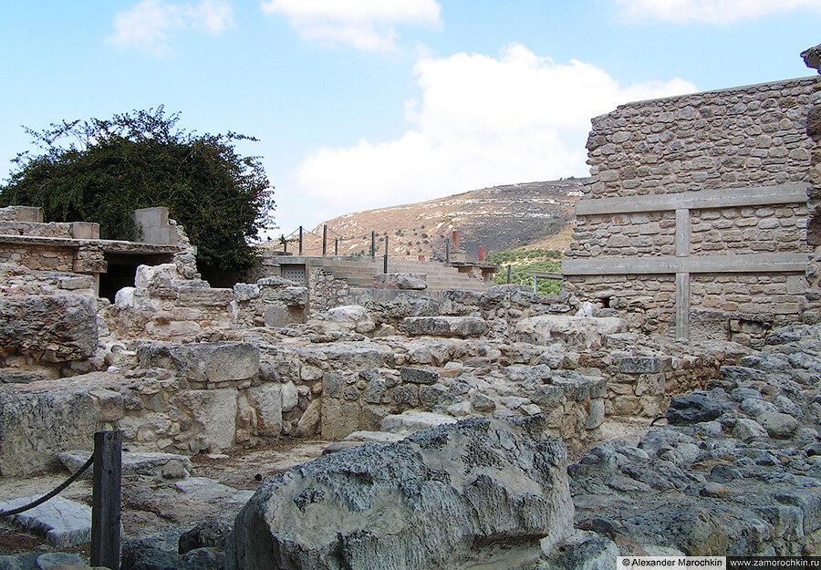 Развалины Кносского дворца на Крите, Греция