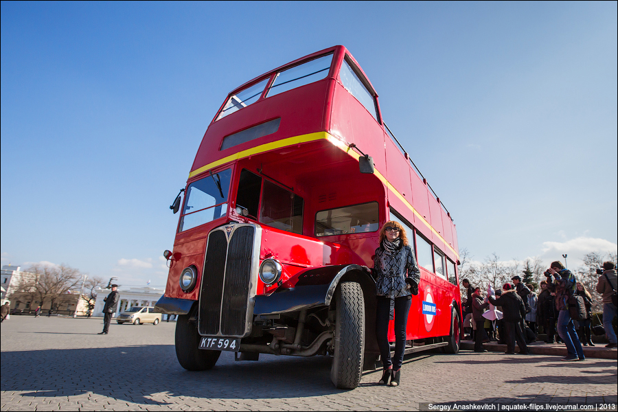 London Bus на улицах Севастополя