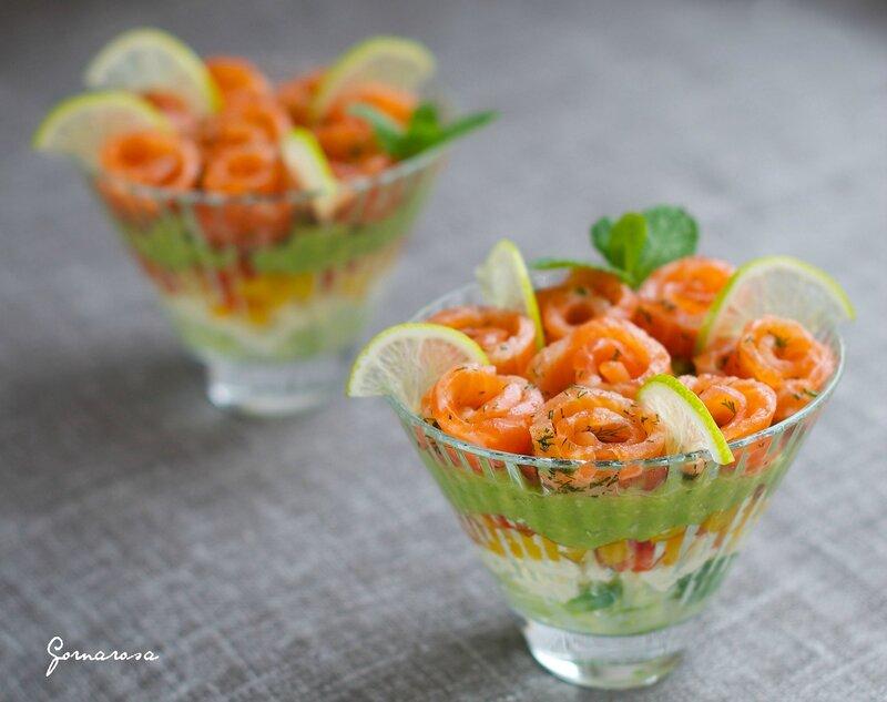 Салат в стакане...