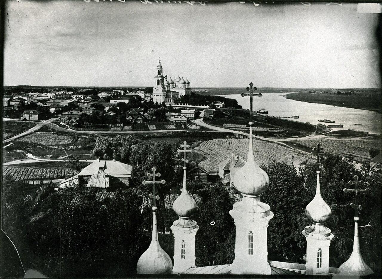 Общий вид села Кимры. 1903 г. с. Кимры, Тверская губерния.