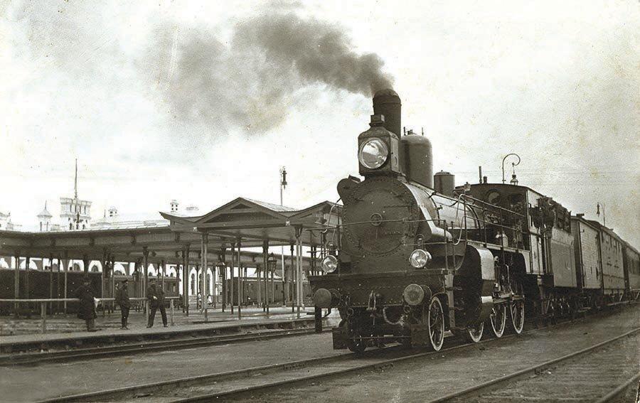 Прибытие поезда, 1910 год.