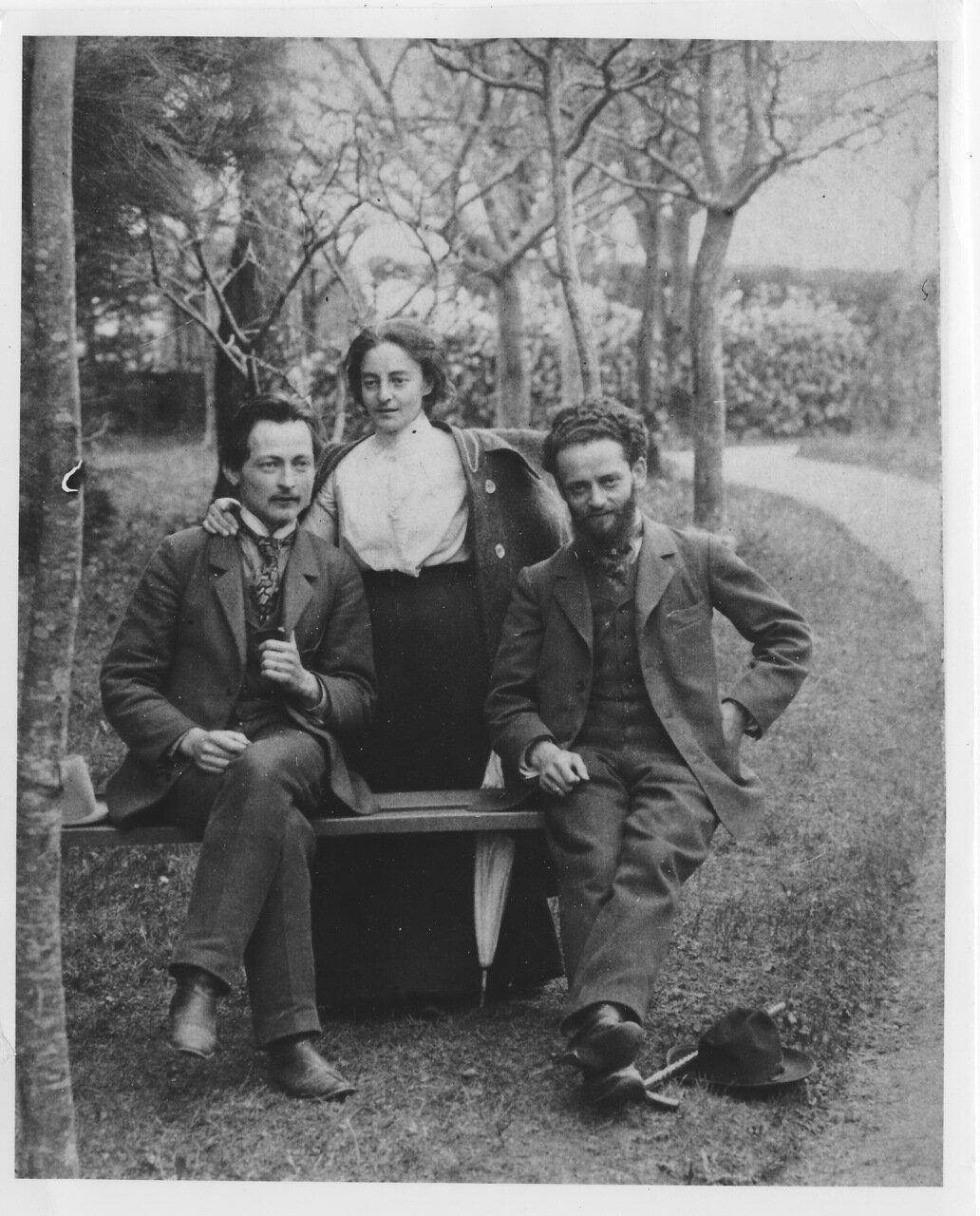 Феликс Дзержинский, Юля Гольдман и Михаил Гольдман. Швейцария. 1904.