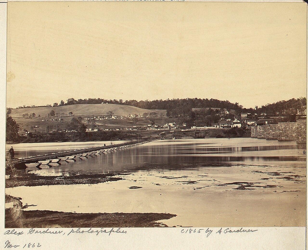 Берлин, Мэриленд. Понтонный мост через Потомак. ноябрь 1862 г.