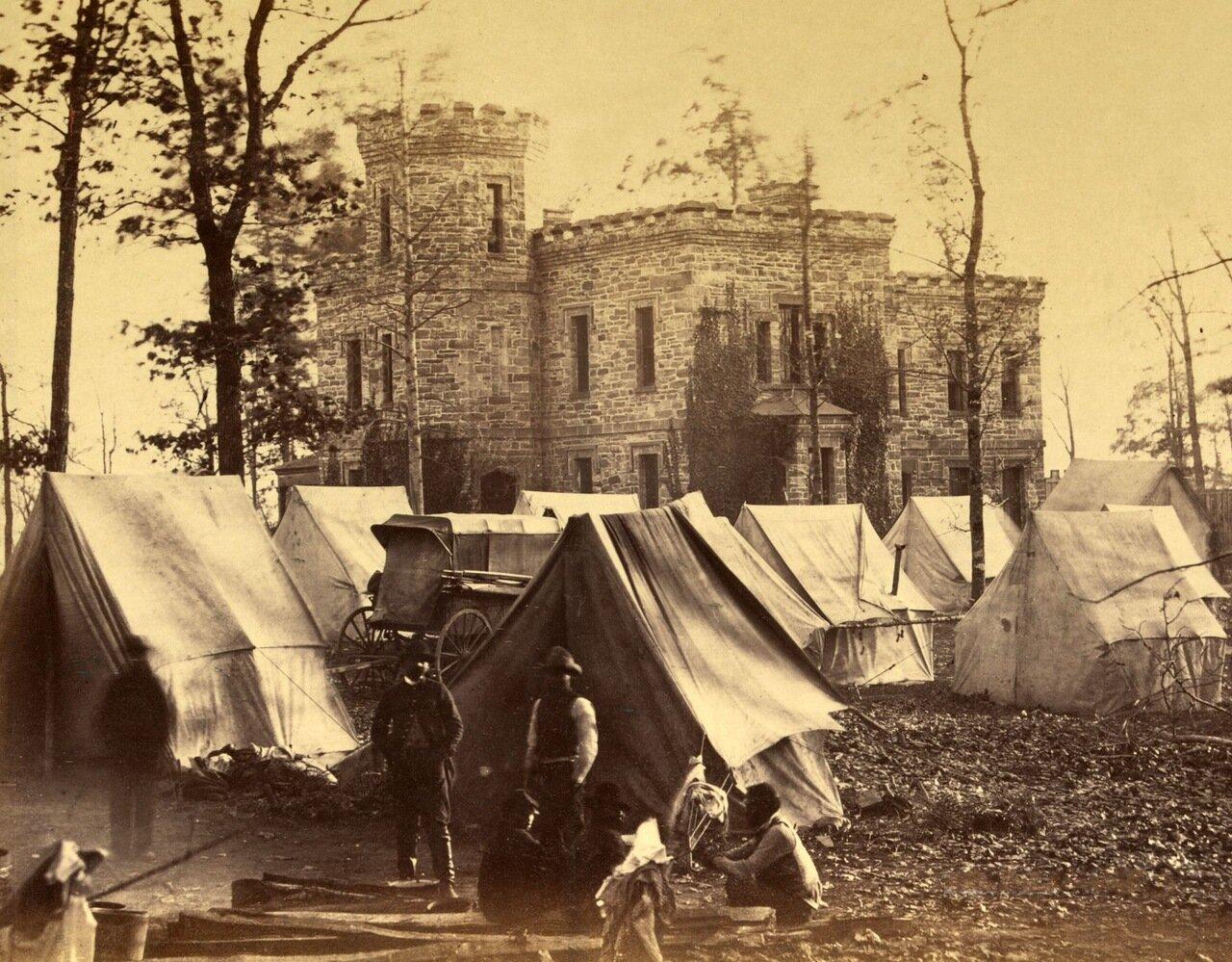 Особняк Мюррей около Оберна, штат Вирджиния. Ноябрь 1863 г.