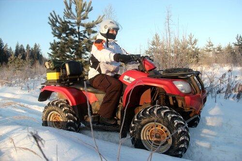Прокат квадроциклов зимой