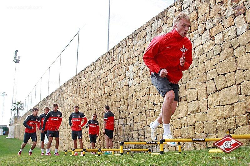 Тренировка «Спартака» перед матчем с «Русенборгом» (Фото)