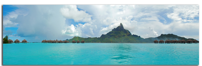 Французская Полинезия. Panorama view of Bora Bora , the famous island of French Polynesia , south Pacific. Фото wilar - shutterstock