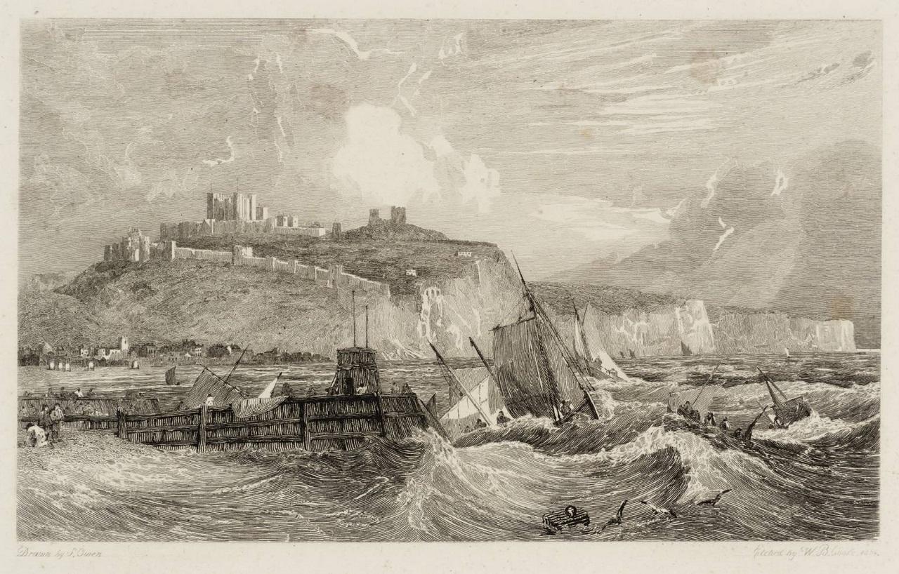 Dover Castle, Kent 1814 by Samuel Owen 1768 or 9-1857
