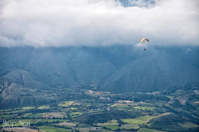 полет на параплане, мерида, венесуэла, горы